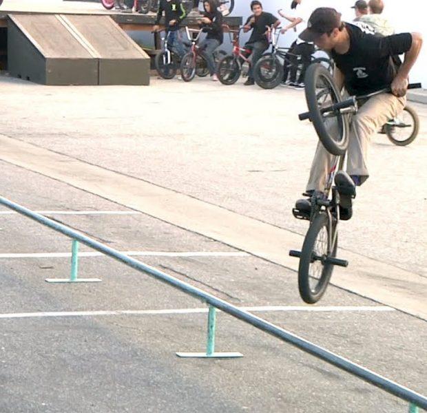 100 FOOT FLAT RAIL JAM – TIP PLUS X RIDE BMX