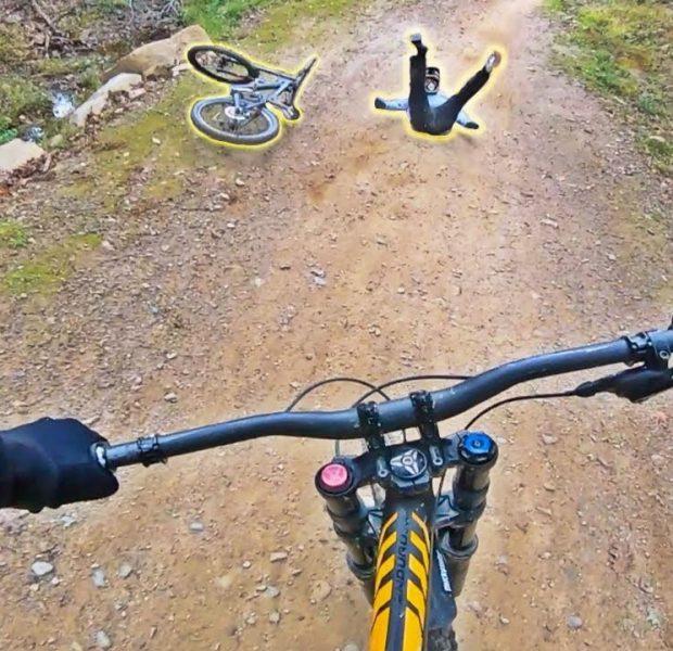 GoPro Downhill MTB Riding (Crash Footage)