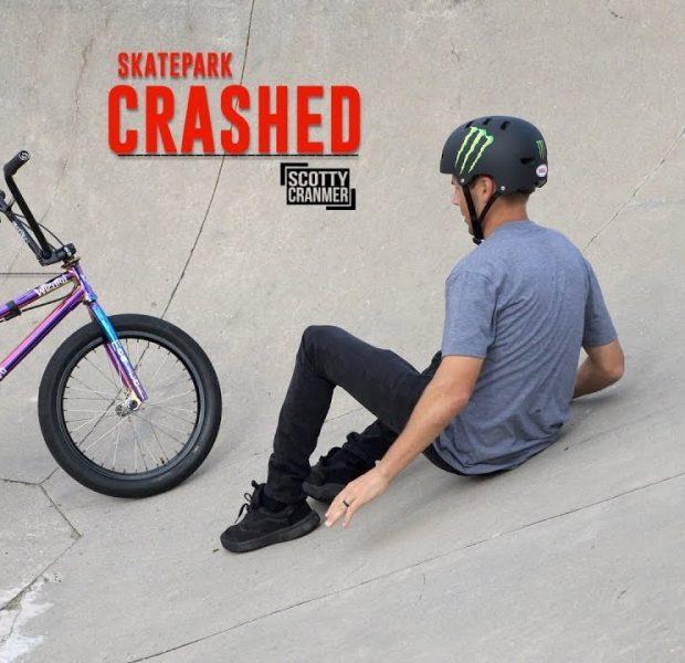 I CRASHED AGAIN AT THE SKATEPARK!