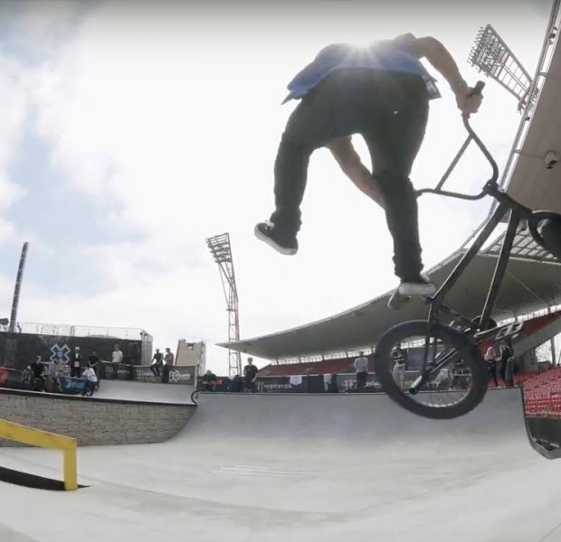 STRAIGHT HAMMERS AT X GAMES SYDNEY BMX STREET PRACTICE!