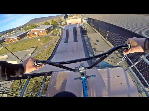 Mega Ramp at Woodward! (Merritt BMX Trip)
