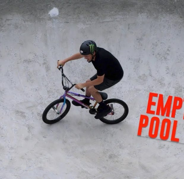 RIDING BIKES IN AN EMPTY POOL!