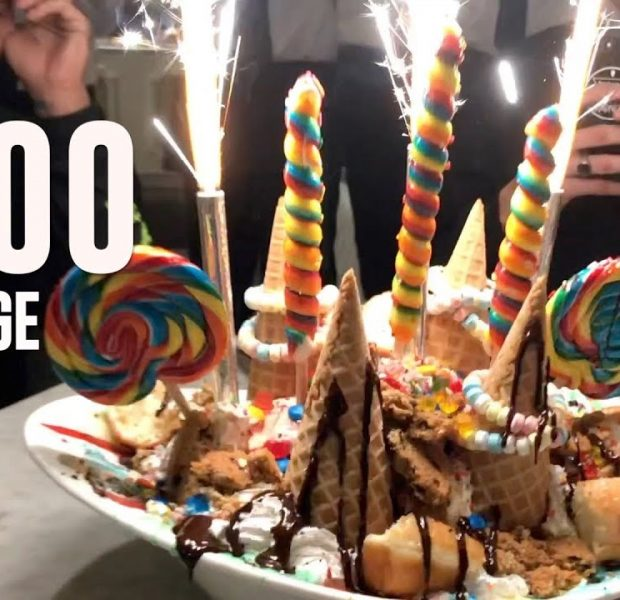 $100 Ice Cream Challenge!
