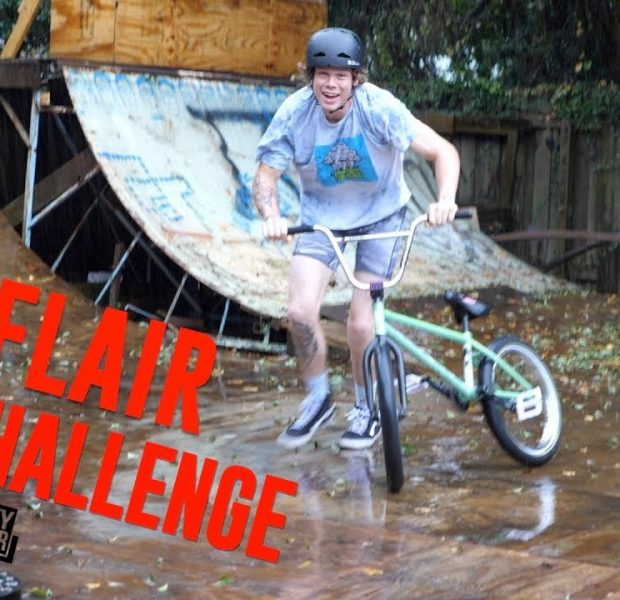 Flair Challenge In His Underwear During A Thunderstorm!