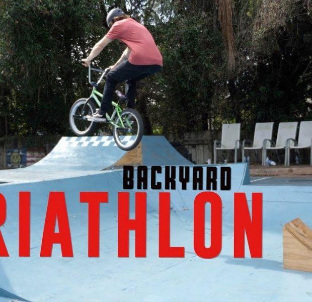 Backyard Skatepark Triathlon Challenge!