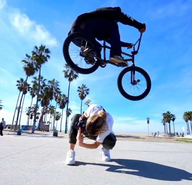 JUMPING OVER GIRLS ON BMX BIKES