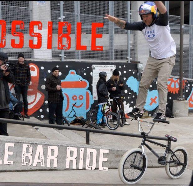 Impossible Handlebar Ride At Skatepark!