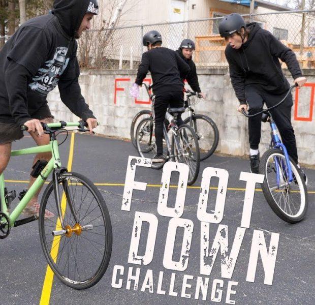 Last Bike Rider To Put A Foot Down Wins!