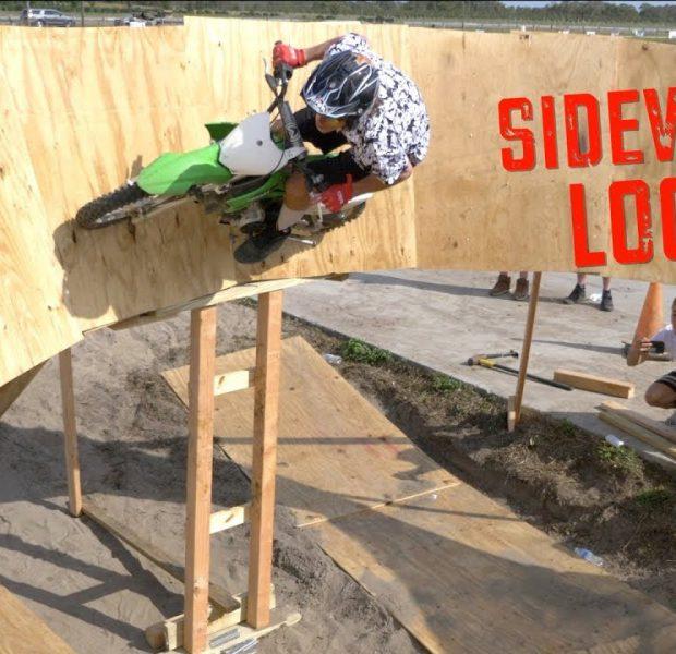 Dirtbike And BMX Bike Sideways Loop!