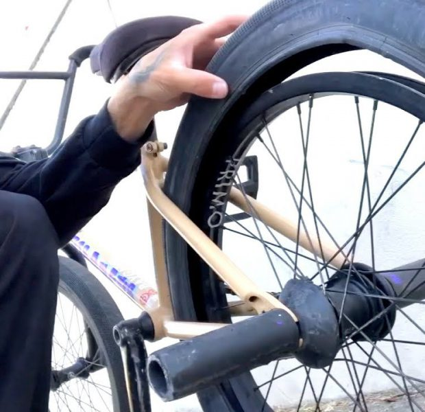 HOW TO GET HOME ON BMX FLAT TIRE