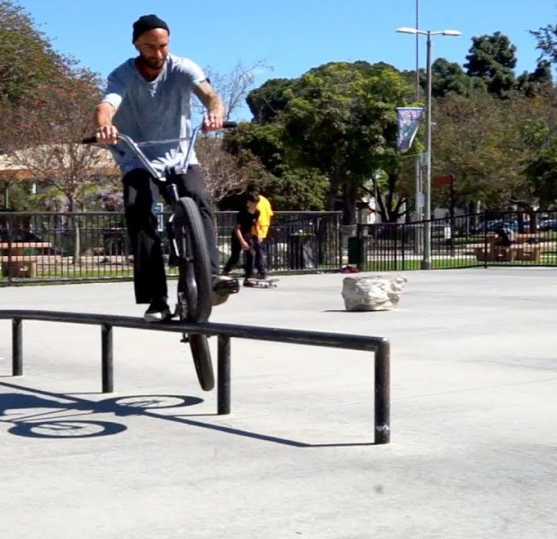 BMX HOW TO BACK PEDAL GRIND A RAIL WITH ERIC L