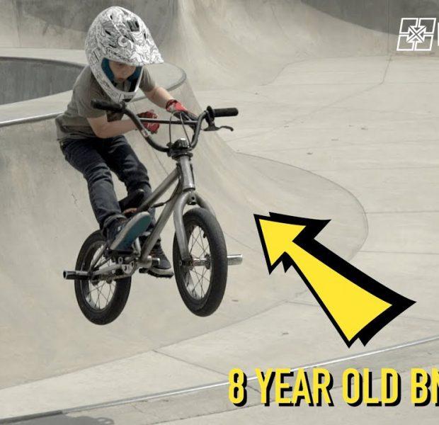 Five Tricks with 8 Year Old BMX Rider Caiden Cernius