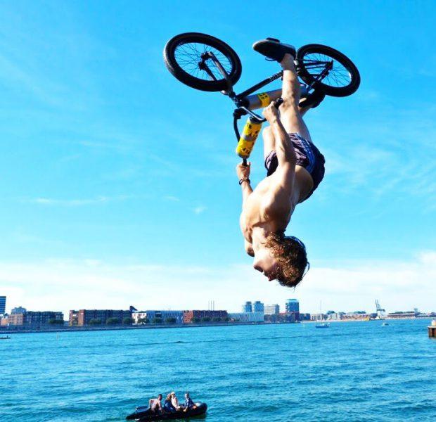 BMX WATER JUMP!