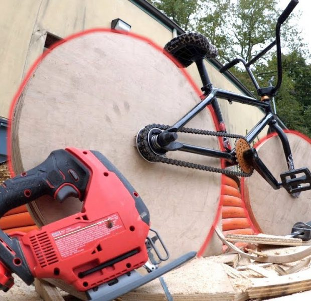 I Bet You've Never Seen A Bike Like This Before! *WOODEN WHEEL BMX*