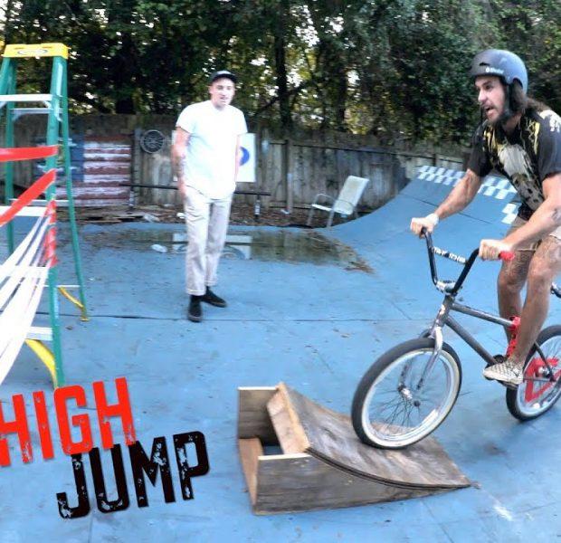 High Jump Challenge On The Worst Bike EVER!