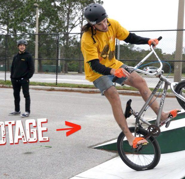 Taped Hands & Feet BMX Tricks Is A Terrible Idea!