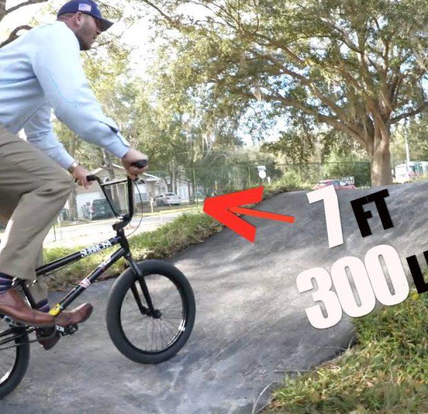 7ft Tall 300 lbs Ex WWE Superstar Mayor On A BMX Bike! (NO JOKE)