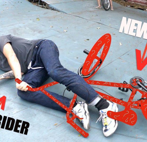 Big Boy's First Crash On His New Bike!