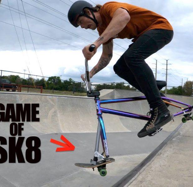 Game Of SK8 On SKATEBIKE!