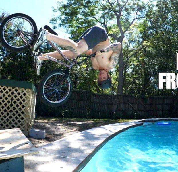 Big Boy's Backyard Long Jump Challenge!
