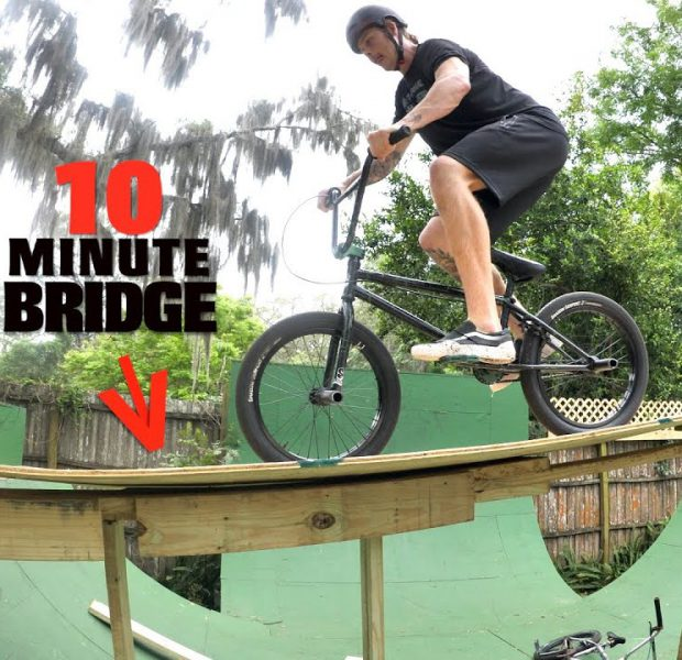 Build A Bridge And Ride Your Bike Across In Under 10 Minutes!