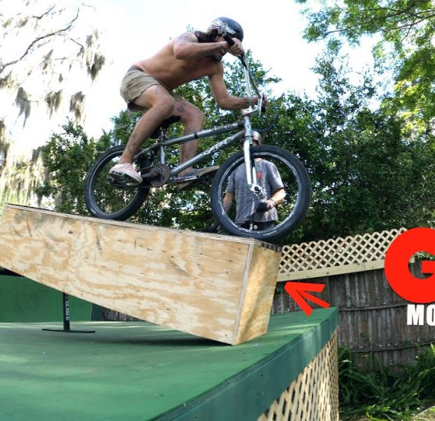 Movable Ledge GAME OF BIKE On The Ramp!