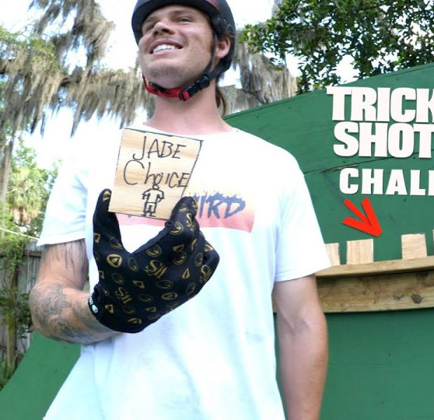 Trick Shot Challenge On Big Boy's Ramp!