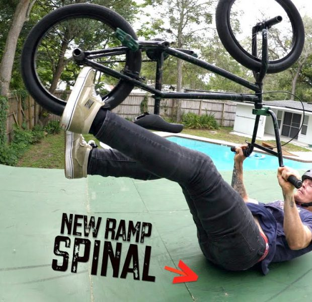 Big Boy Spinals On His Brand New Ramp!