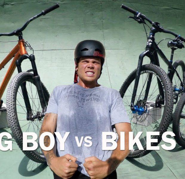 Big Boy's Backyard Ramp Trick Challenge On All The Bikes!