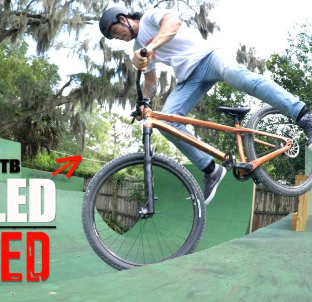 BMX/MTB Trick Challenge On Big Boy's Ramp!