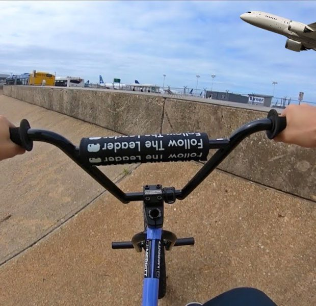 Riding BMX at NYC's Biggest Airport (Real Life GTA)