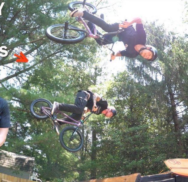 Crazy Day Riding The Baker's Backyard Ramp!