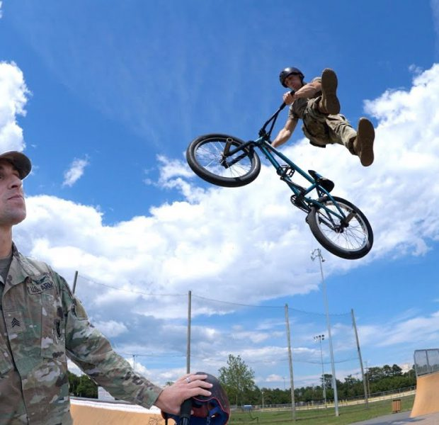 This Army Helicopter Mechanic Is An Amazing BMX Rider!