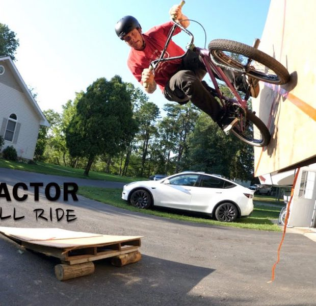 I Bet You've Never Seen A Wall Ride On A Tractor?