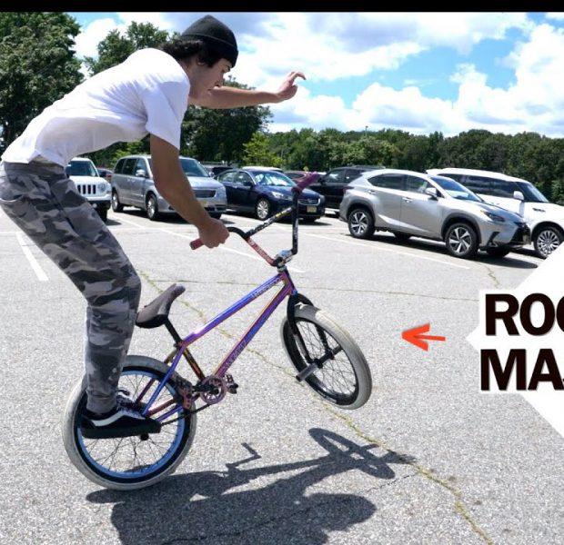 Skatepark Local With Amazing Balance Teaches Big Boy!