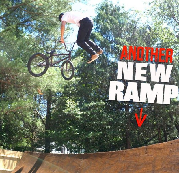 We Have Another New Backyard Ramp To Ride!