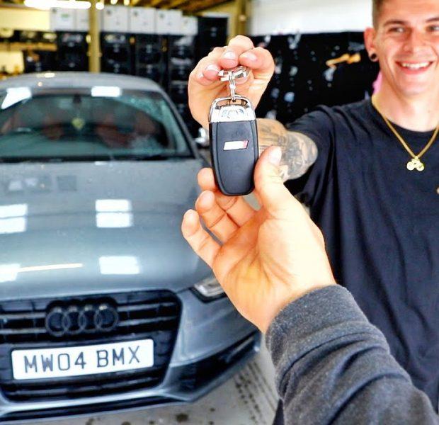 Micky bought a new Audi!