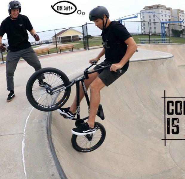 Scotty Cranmer vs Concrete Skatepark Bowl!