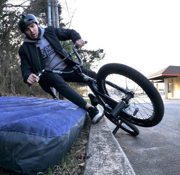 Air Mattress Crashing To Learn A New Trick! – Scotty Cranmer's BMX Journey