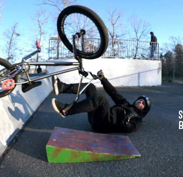 Little Guy Crashes A lot At The Skatepark!