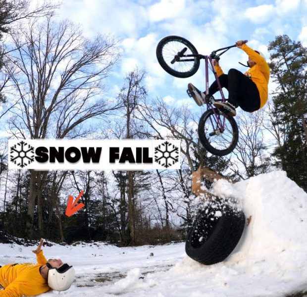 Snow Jump Backflip Goes So Wrong!