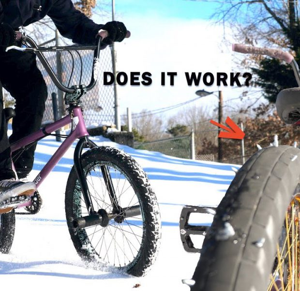 Studded Snow Tires For Our BMX Bike! *Not Professional*