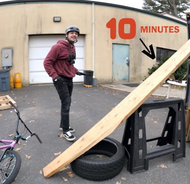 10 Minutes To Build The Craziest Junk Ramp Possible!