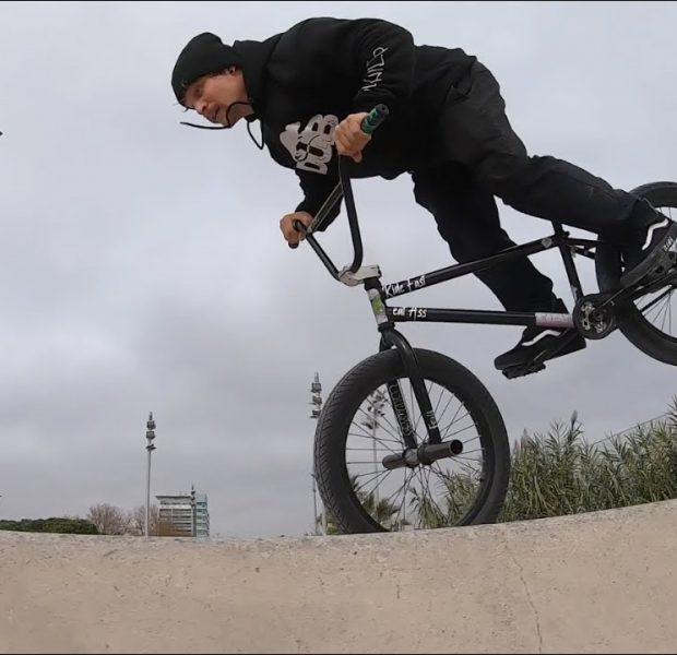BMX Bike Riding in the Streets & Parks of Barcelona, Spain: Mati Lasgoity (RAW Tricks / Vlog)