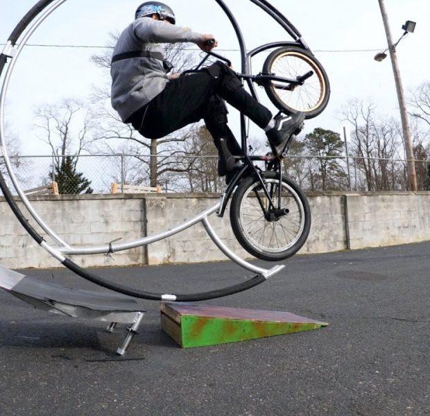Roller Coaster Bike Is Breaking The Ramps!
