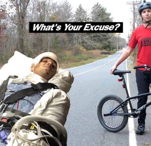 """""""What's Your Excuse?"""" – Quadriplegic BMX Rider Completes 100 Mile Ride!"""