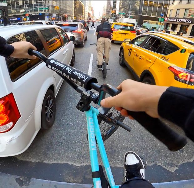 Riding BMX in Midtown NYC