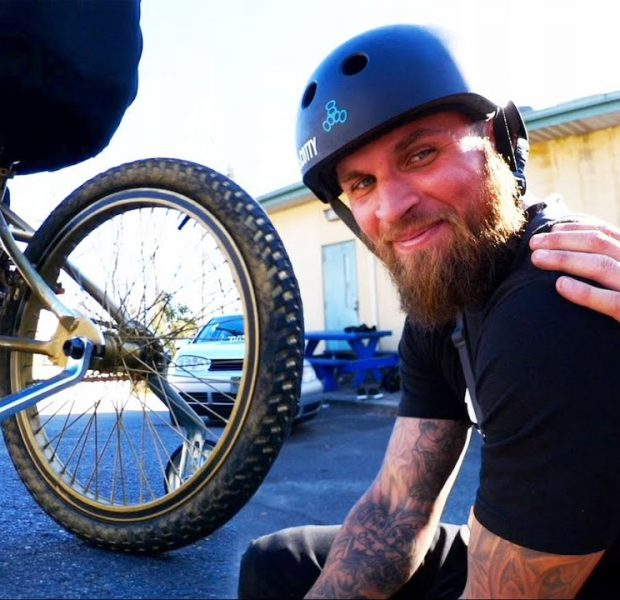 This Grown Man With tattoos Is On Training Wheels And He Is Not Happy About It!