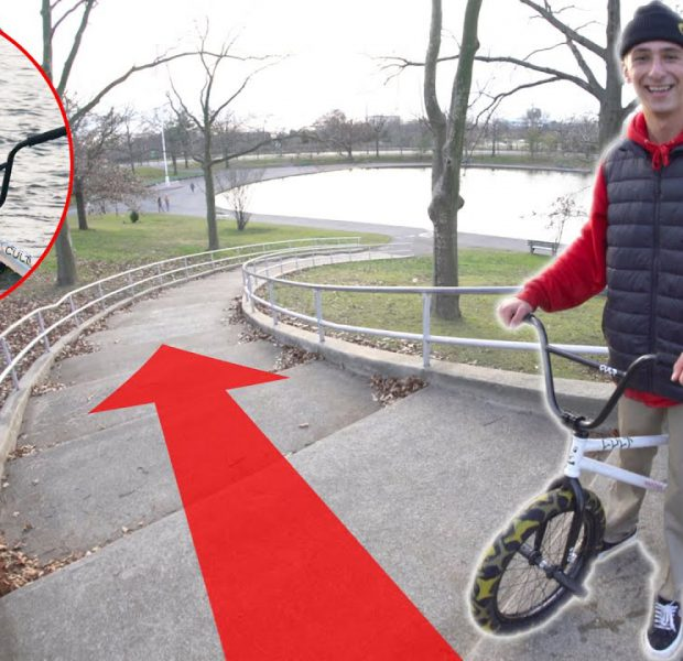 Grinding The Longest Handrail Straight Into A Pond! (Part 2)
