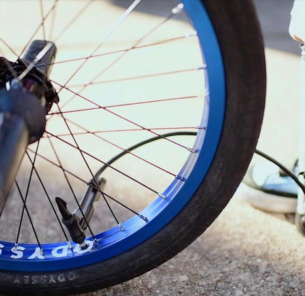 MATT NORDSTROM   Odyssey BMX – Anodized Blue Hazard Lite Wheels